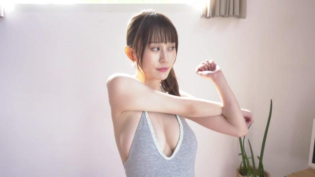 ジュニアアイドルのレオタード着エロ 胸、揺らぎ-篠原まきほ 無料サンプル動画あり