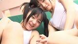 ビキニでポロリ!? lovers/西永彩奈・百川晴香 ジュニアアイドル無料着エロ動画